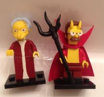 LEGO Treehouse Horror Dracula Burns Devil Flanders by Derrico13