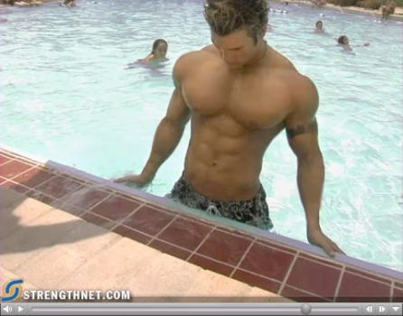 Royal pecs in the pool - III by Musclelicker