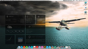 Simple and Flat Geektool Aviation Desktop by xBWCx