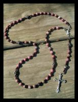 Pink Rhodonite Rosary by EpicPseudonym
