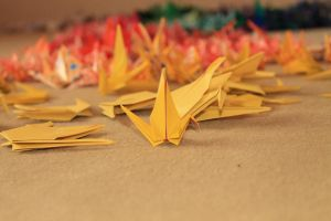 1000 cranes_just one by Fricky-Blue-Eye
