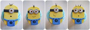 Fondant Minions by cake4thought