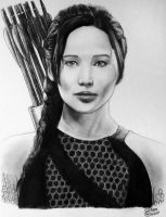 Jennifer Lawrence (Katniss Everdeen) Drawing by LethalChris