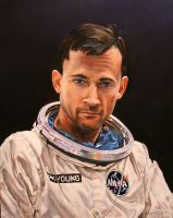 Astronaut John W. Young by Steeldriver
