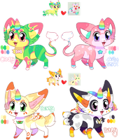 Unicat Adoptables OPEN by RayFierying