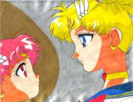 Sailor Moon and Chibi Moon 2 by prime92