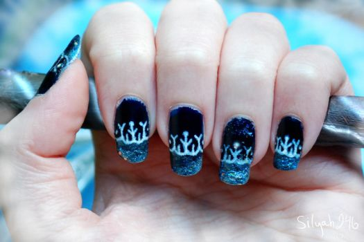 Jack Frost Inspired Nail Art by Silyah246