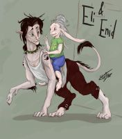 Eli and Enid by TheMushman