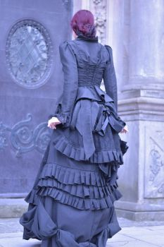Stock - Victorian lady dress backview by S-T-A-R-gazer