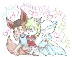 RQ Max Jenny and Blue by Hippiesforever14