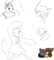 PMD doodles by The-Chibster