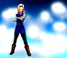 ANDROID 18 SKY by B9TRIBECA