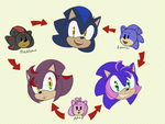 Sonic, Amy and Shadow fusions! by Metal-Harbor