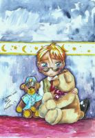 chibi Horatio and teddy bear by SirSubaru