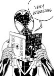 Ultimate Spiderman Miles Morales reading by JonathanPiccini-JP