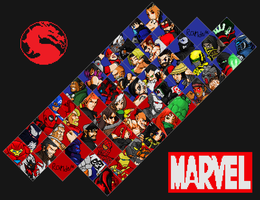MKvsMarvel 3 Fighter Select by jc013
