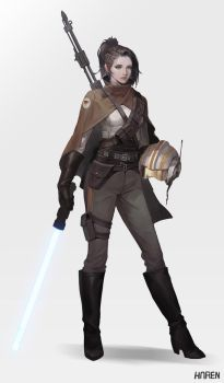 Starwars style character by Hanseul-Kim