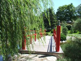 Bridge and the willow tree by decayedroses