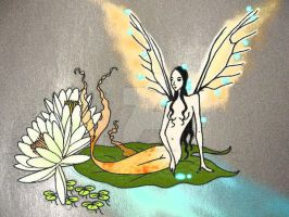 Fairy Mermaid (revisited) by Cyrenization
