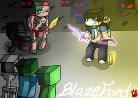 Minecraft-Mob Fight by Zoruannartist68