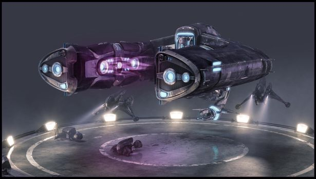 Halo Wars: Spirit Dropship by Pynion