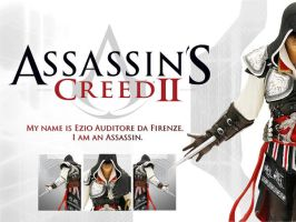 Ezio Figurine Wallpaper by LaraRules81