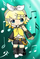 Rin Kagamine (color version) by kagaminokami123