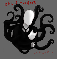 The Slenders Play With The Cat by tzumii