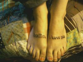 feet tattoos by phreak218