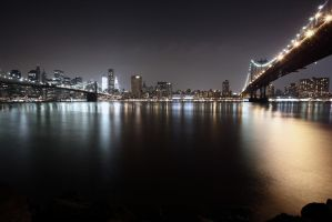 Manhattan Skyline by Night by marcialbollinger