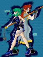 SC Eve and Eli by soulesslouisa