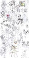 Sketchdump 2013-14 by maffy-pop