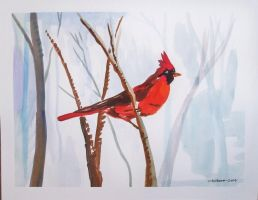 watercolor cardinal by TomKilbane