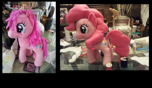Pinkie Pie plush hair fix! by MidnightmareDream