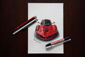 LaFerrari Marker Drawing by orhano