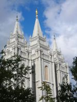 Salt Lake City Temple by allieryan