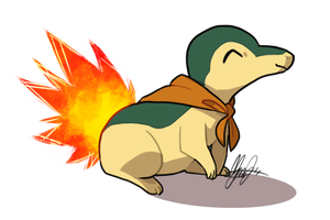 Prize Art: Indie the Cyndaquil by ky-nim