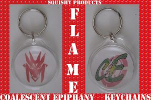 Flame Alliance Keychains cE by Kreamie
