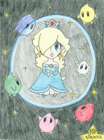 Rosalina in a bubble by PrincessArtist2009