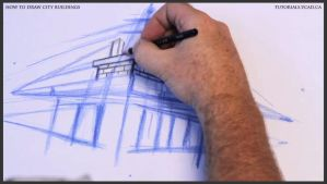 Learn how to draw city buildings 011 by drawingcourse