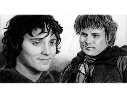 Frodo and Sam by PENcutsPAPER