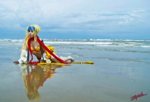 """Road to the sea"" Rikku by SanctusIX"