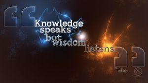 Wisdom Listens Wallpaper by TehBeardedOne