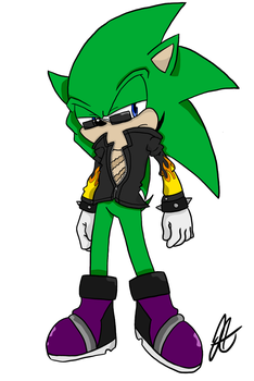Scourge the Hedgehog: Restyled version 1/? by JessSpeedster