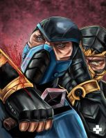 scorpion vs subzero by synysterangel