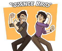 SCIENCE BROS by cartoonjunkie