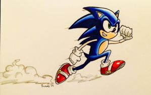 Sonic the hedgehog by ultimatejulio