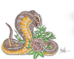 First snake by JOVictory