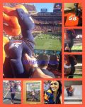mlp Denver bronco plushie went to the Superbowl by CINNAMON-STITCH