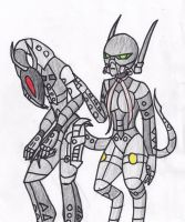 Ma Na and Silver Claw in Orga form by RAC1000